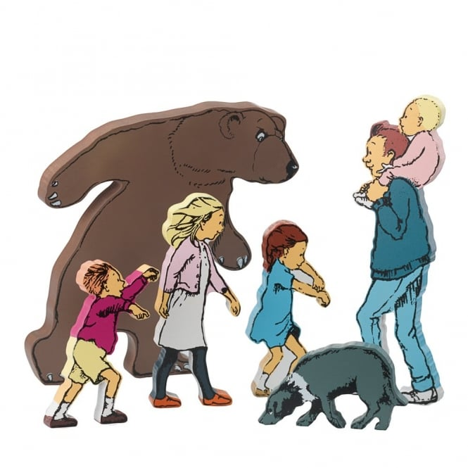 We're Going On A Bear Hunt Wooden Character Pack