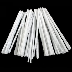 White Pipe Cleaners - Pack of 100