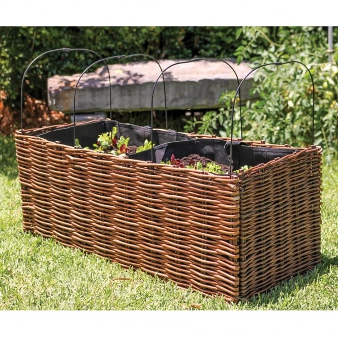 Willow Planter 100 X 40 X 40cm With Liner