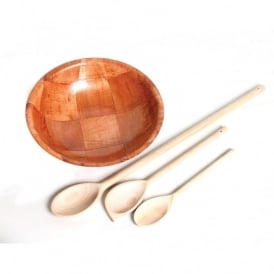 Wooden Bowls And Spoons Set (BD)