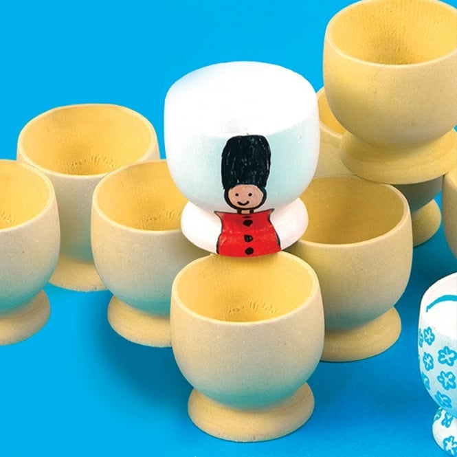 Wooden Egg Cups 10 Art Amp Craft From Early Years