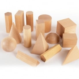 Wooden Geometric Shapes Pack 15