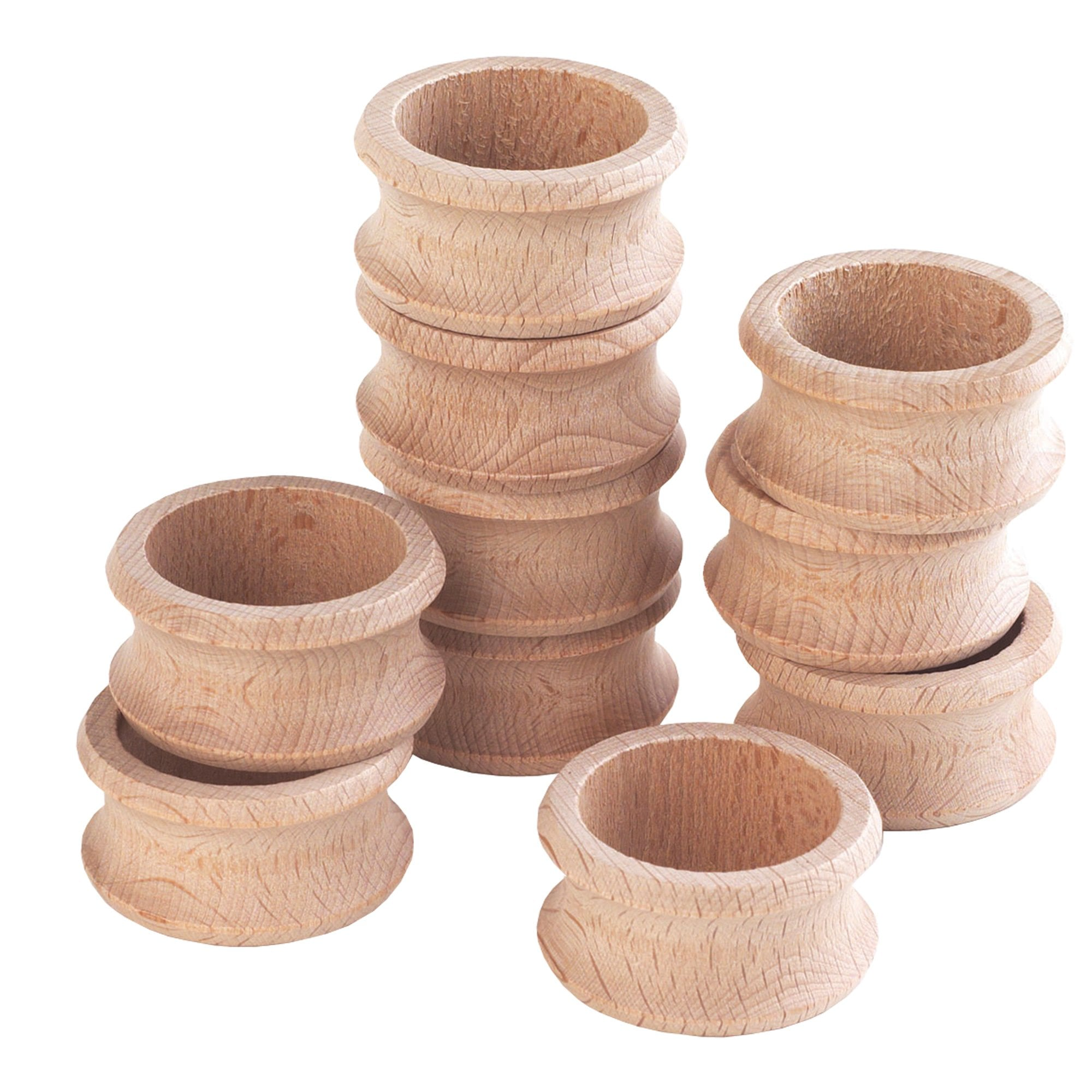 Wooden Napkin Rings Pack Of 10 Loose Parts Play From Early Years Resources Uk