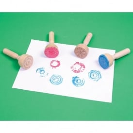 Wooden Paint & Clay Stampers