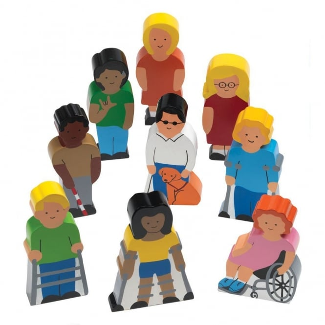 Wooden People With Special Needs
