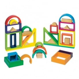 Wooden Rainbow Colour Blocks
