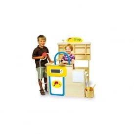 Wooden Service Station Play Centre