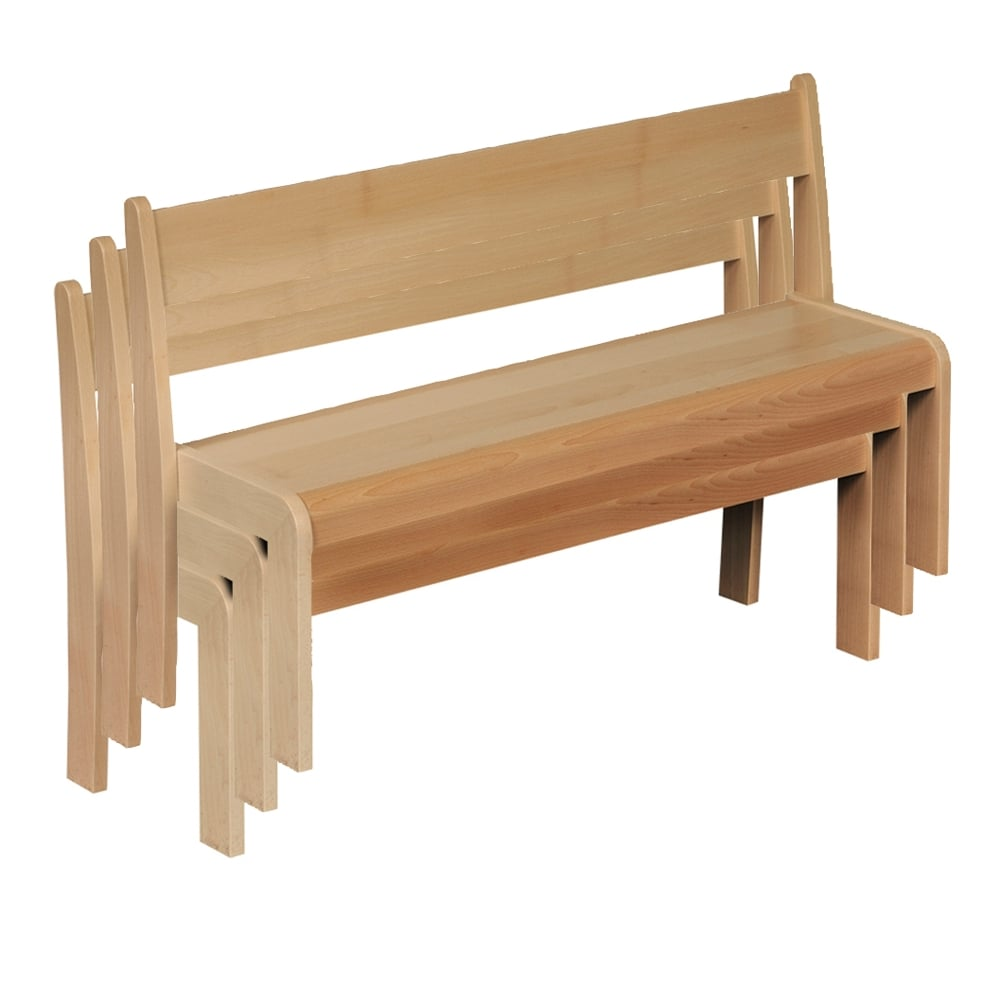 Wooden stackable benches pack of 3