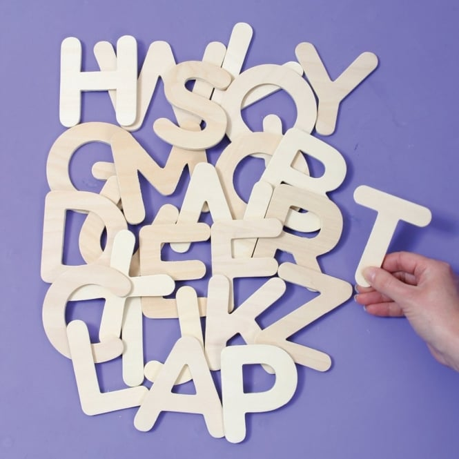 Wooden uppercase abc letter templates general resources from early wooden uppercase abc letter templates spiritdancerdesigns Image collections