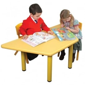 Yellow Trapezoidal Classroom Tough Table