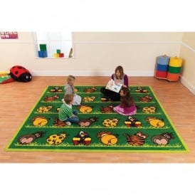 Zoo Animals Square Carpet